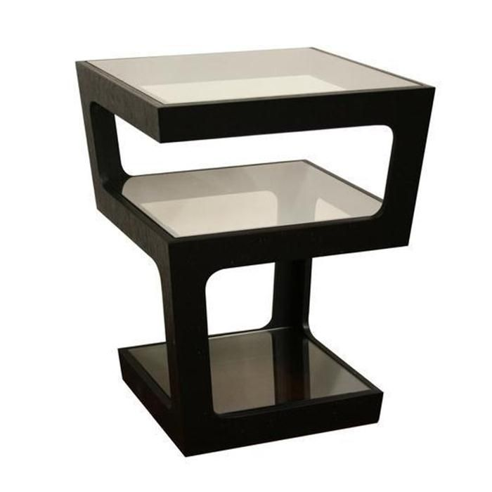 Baxton Studio Clara Tall 3 Tiered End Table In Black Nebraska Furniture Mart