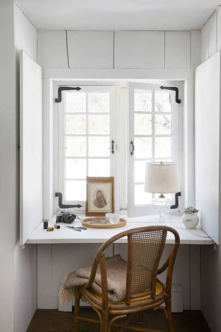 Desk under window ideas  a s stone farmhouse in the hudson valley discovered via google