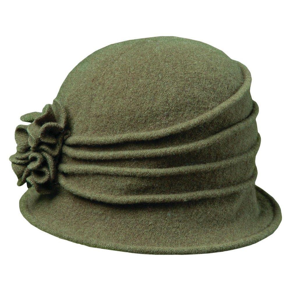 4b727bf2575 Scala Collezione Women s Wool Cloche Hats - Olive (Green ...