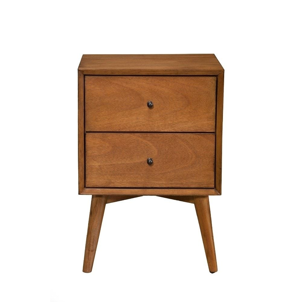 Best Mid Century Mahogany Wood Nightstand Acron Brown 400 x 300