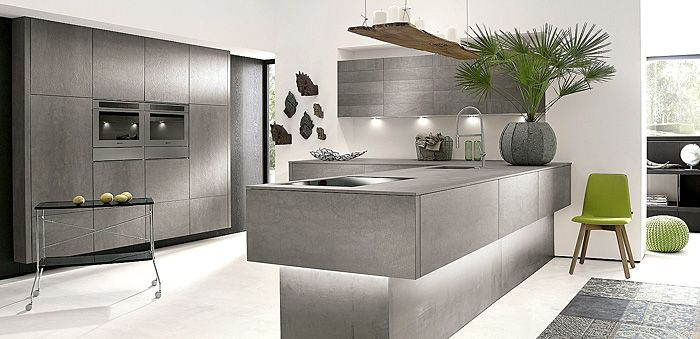 Grey And White Modern Kitchen Design