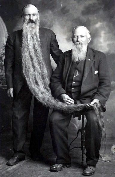 Fortunately, Cecil and Cyril did not suffer from sibling rivalry, otherwise Cyril's lovely beard would not have been in safe hands.  1892
