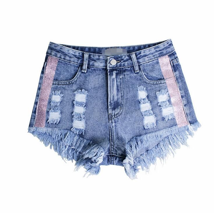 a6d416b99d13 Find More Shorts Information about 2164 2018 Women s Fashion Brand Vintage  Tassel Ripped Loose High Waisted Short Jeans Punk Sexy Hot Woman Denim  Shorts ...