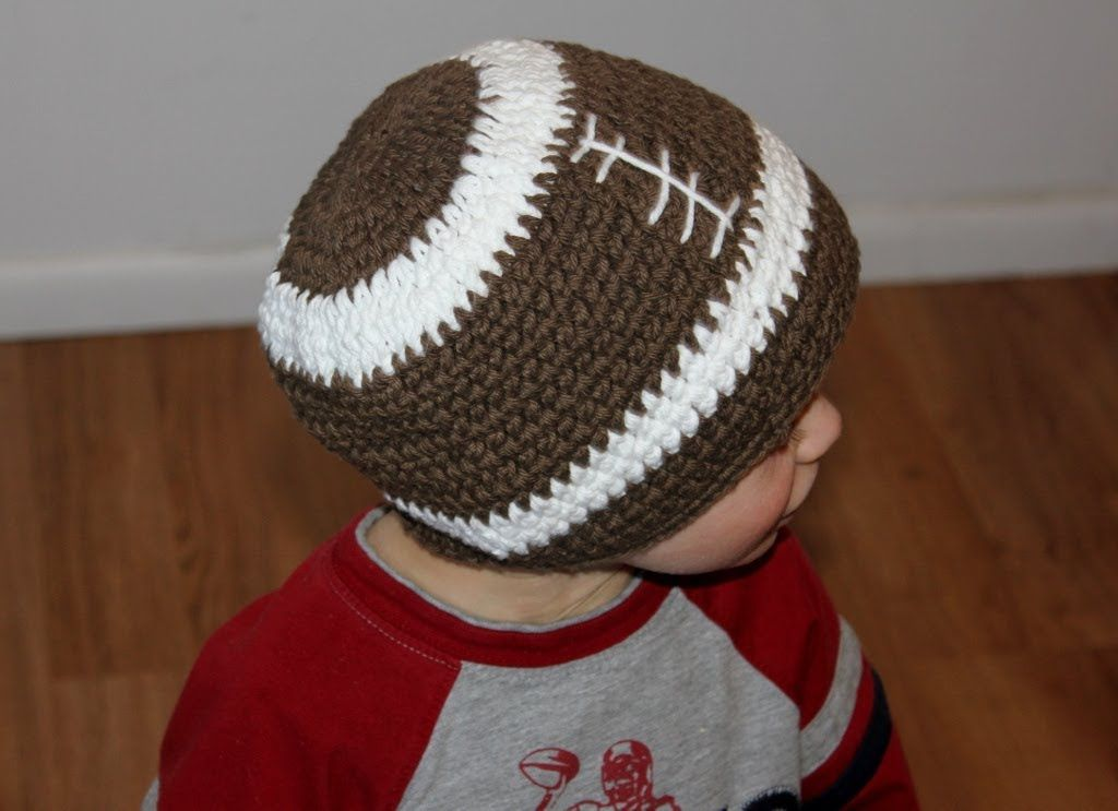 Magnificent Crochet Football Hat Pattern Image Blanket Knitting