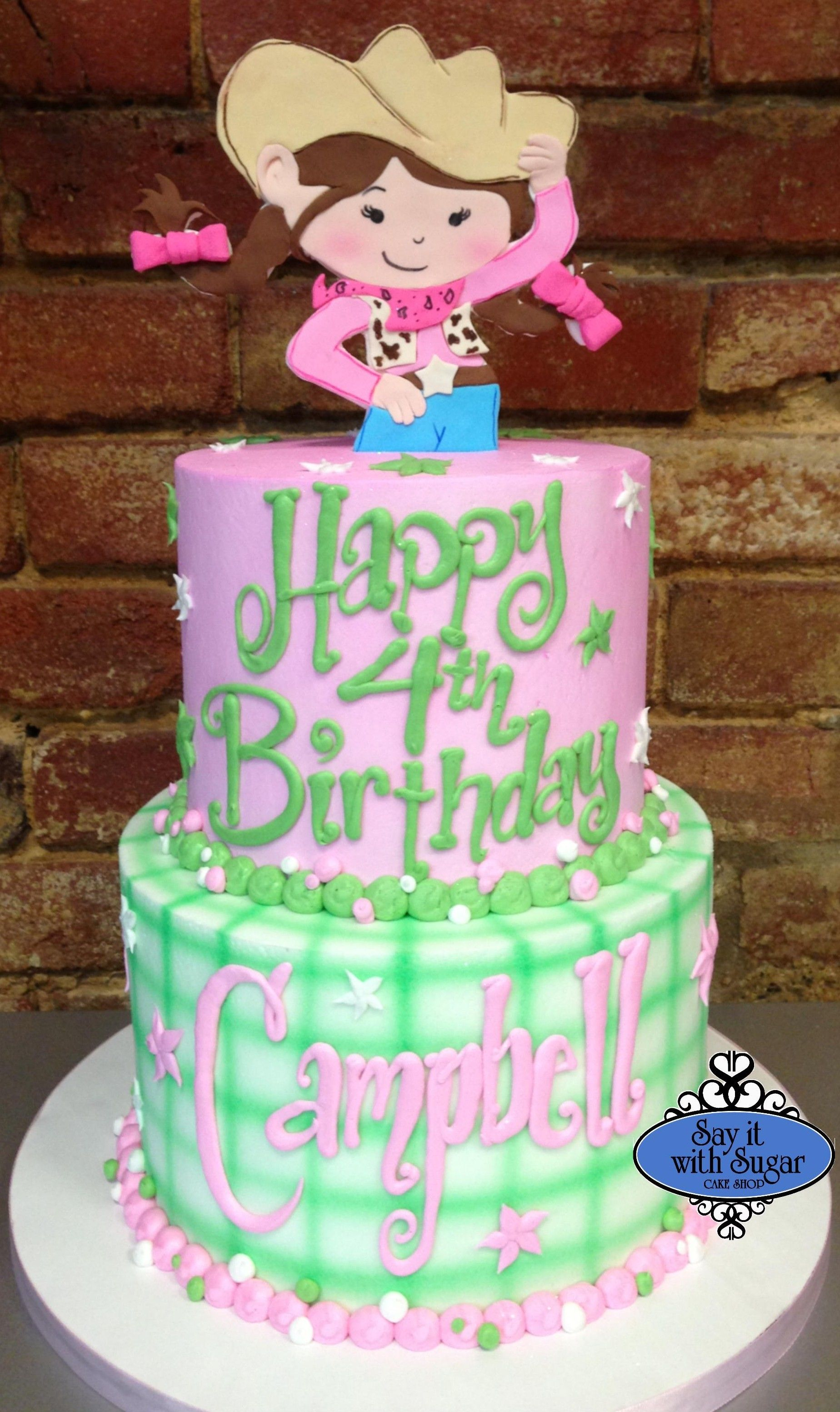 3da1e7ff563b6 Cowgirl themed birthday cake