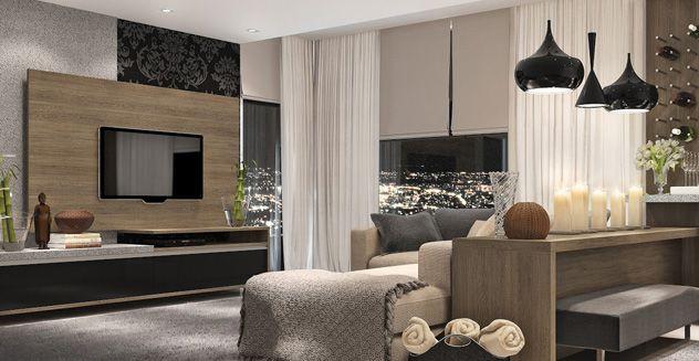 Usando móveis planejados na decoração de sala