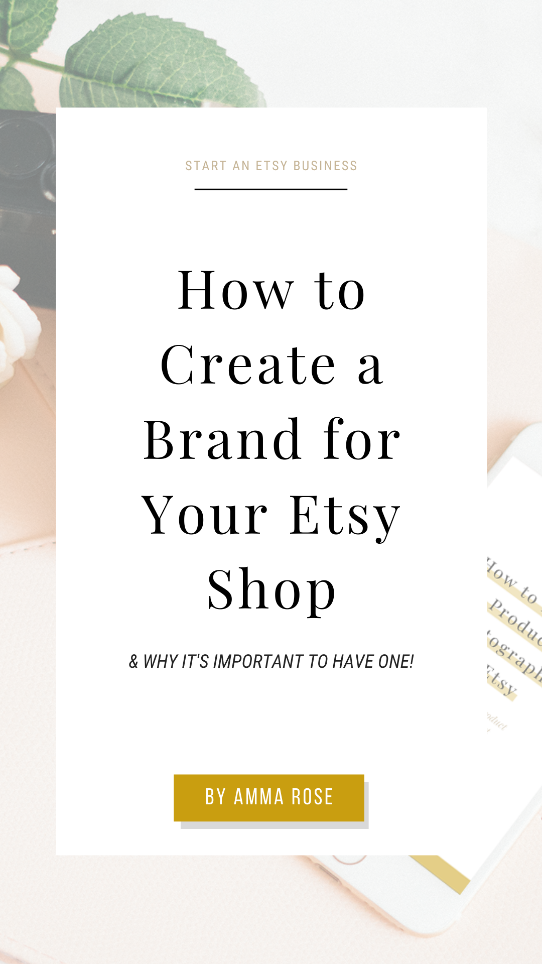 How To Create A Brand For Your Etsy Shop With Images