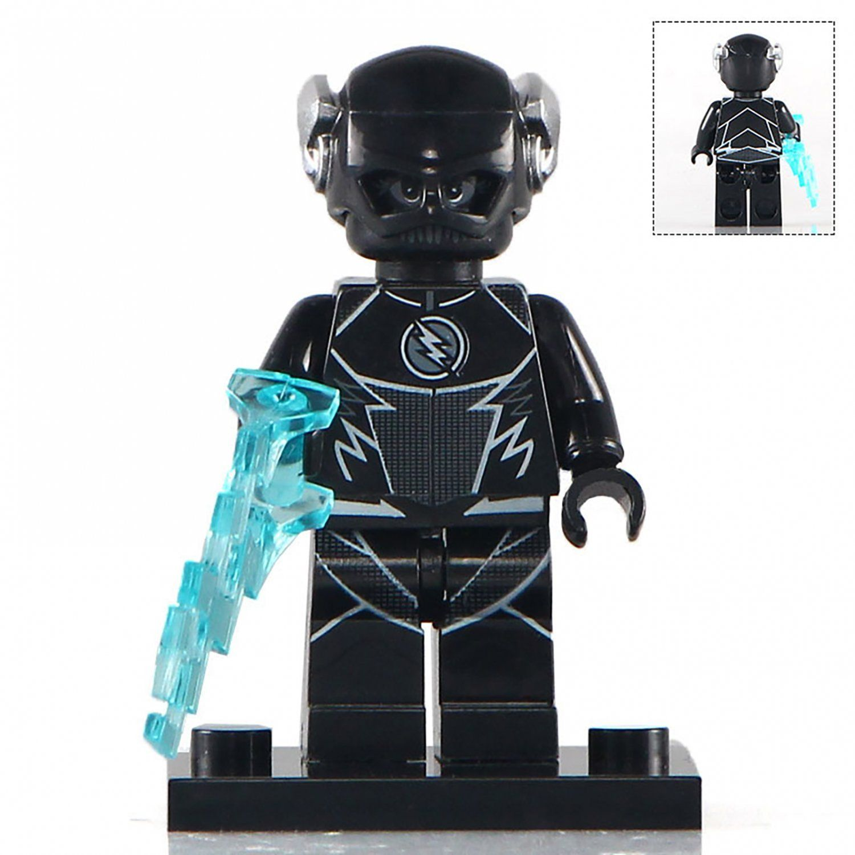 Minifigure Zoom Black Flash Dc Comics Super Heroes Compatible Lego Building Blocks Toys In 2020 Flash Dc Comics Mini Figures Lego