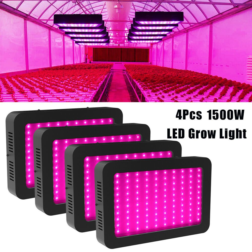 4pc 1500w Led Grow Light Hydroponic Full Spectrum Indoor Plant Flower Bloom Lamp Unbranded Modern Led Grow Lights Grow Lights Grow Lights For Plants