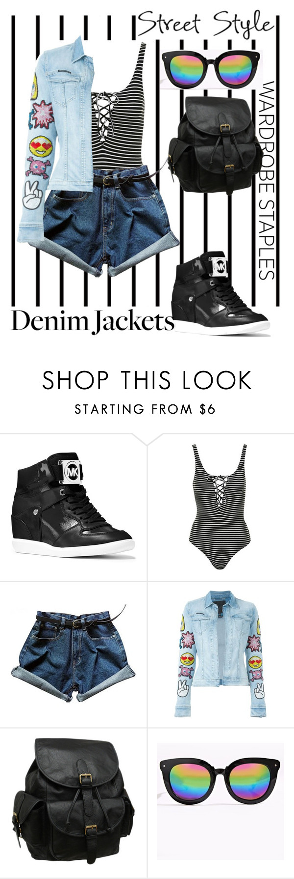 """""""Untitled #2488"""" by ceridwen86 ❤ liked on Polyvore featuring Forum, MICHAEL Michael Kors, Topshop, Philipp Plein and AmeriLeather"""