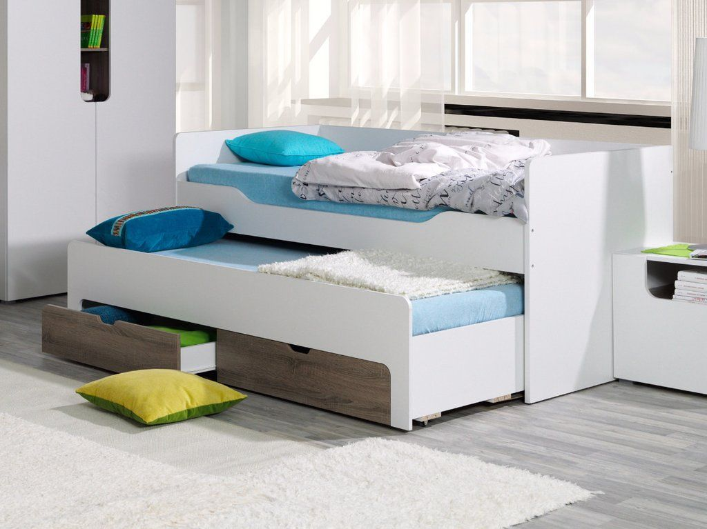 Modern Trundle Bed In 2020 Trundle Bed With Storage Bed Bunk