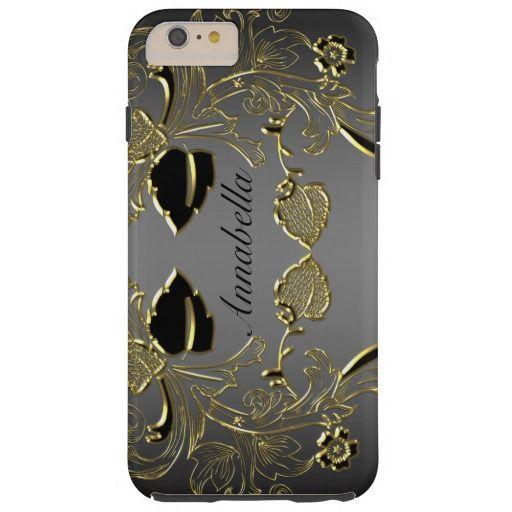 Monogram Black & Gold iPhone 6 Tough Case
