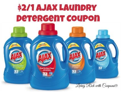Hot New 2 1 Ajax Laundry Detergent Coupon Free At Pathmark Shoprite Ajax Laundry Detergent Laundry Detergent Laundry Coupons
