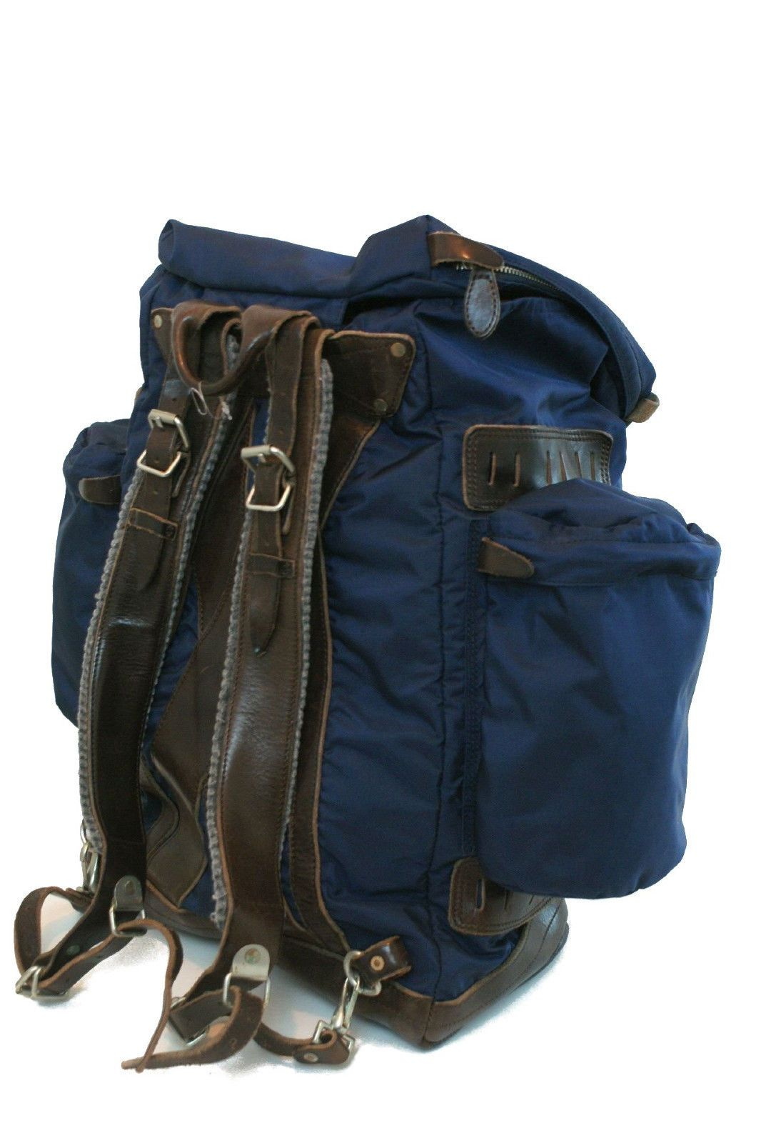 9e54240453 RALPH LAUREN POLO YOSEMITE BACKPACK NYLON-LEATHER NAVY BLUE ...