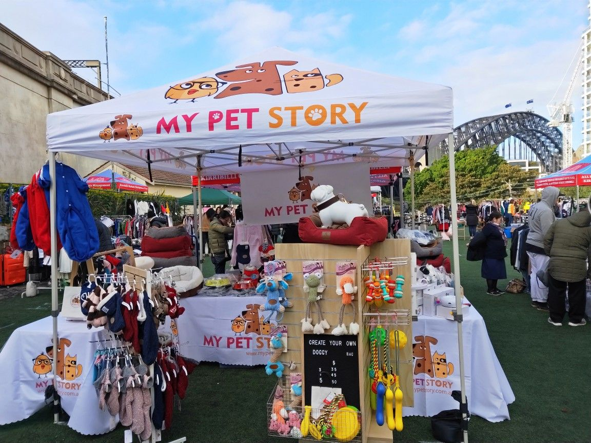 Set Up At Kirribilli Markets In Sydney For My Pet Story Animal Stories Pets Pet Sweater