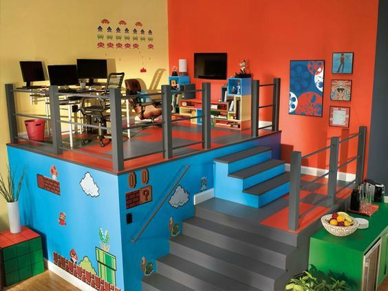 21 Truly Awesome Video Game Room Ideas Videojuegos, Sala de juegos