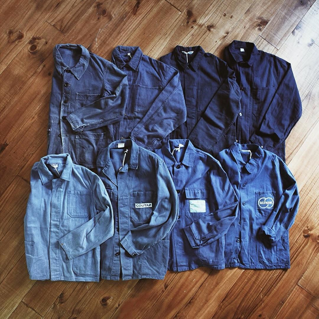 #Blue blue and blue - #Euro #workcoat #vintage by rolling.on