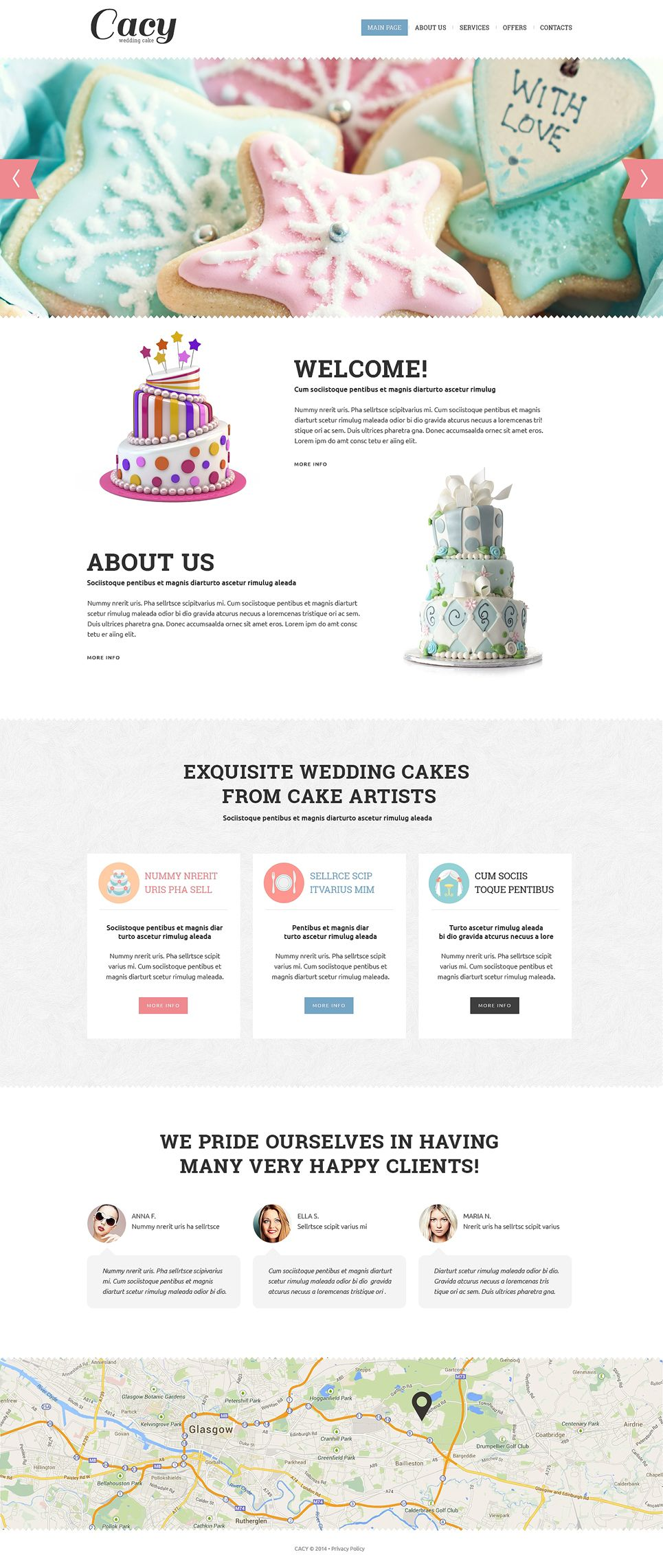 Wedding Cake Responsive Website Template Ad Cake Wedding Responsive Template Website Template Responsive Website Template Web Inspiration