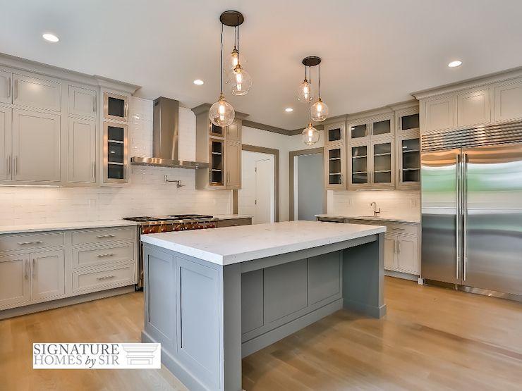 Stunning Light Gray Colored Kitchen