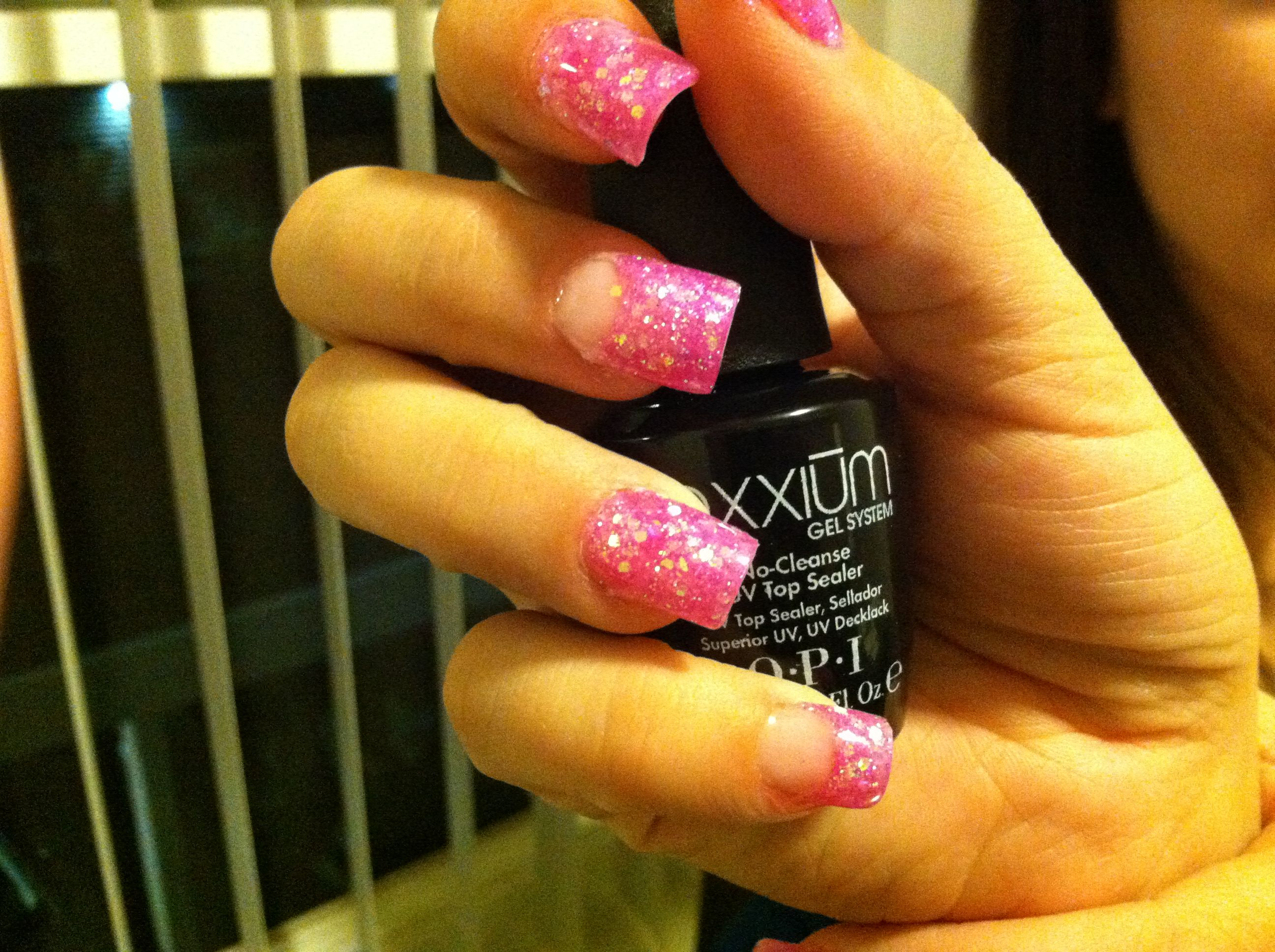 Pink acrylic glitter polished to perfection pinterest pink