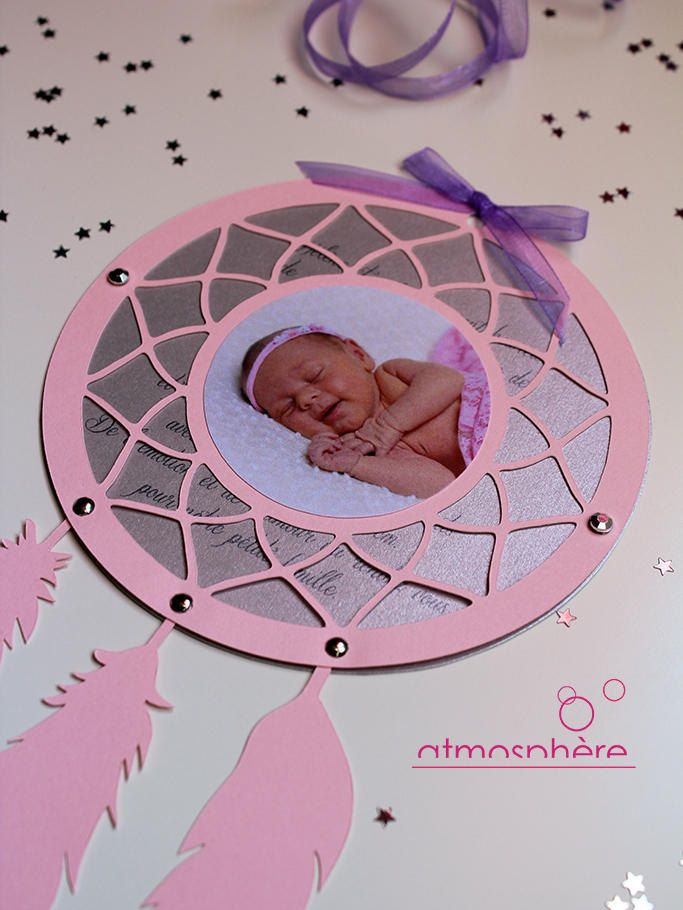 Faire part attrape r ve ou dreamcatcher naissance - Faire attrape reve ...