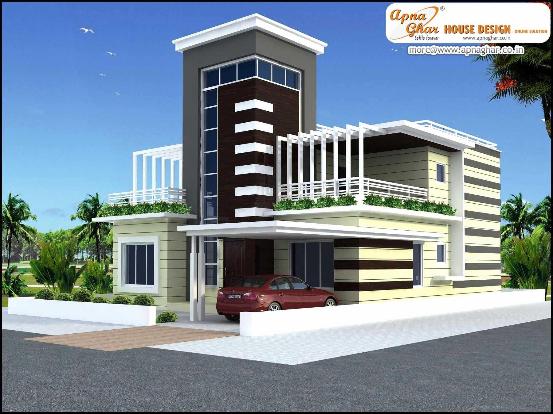 Modern House Plans Duplex Plan