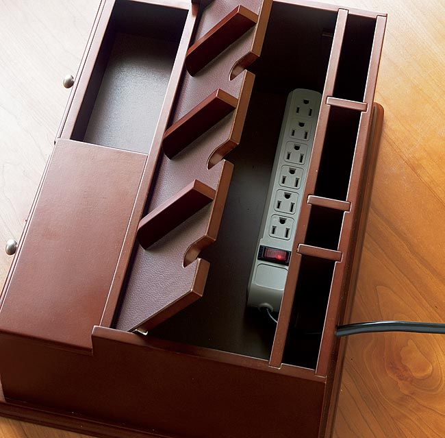 27 DIY Charging Station Ideas to Make More Tidy Cables Drawers