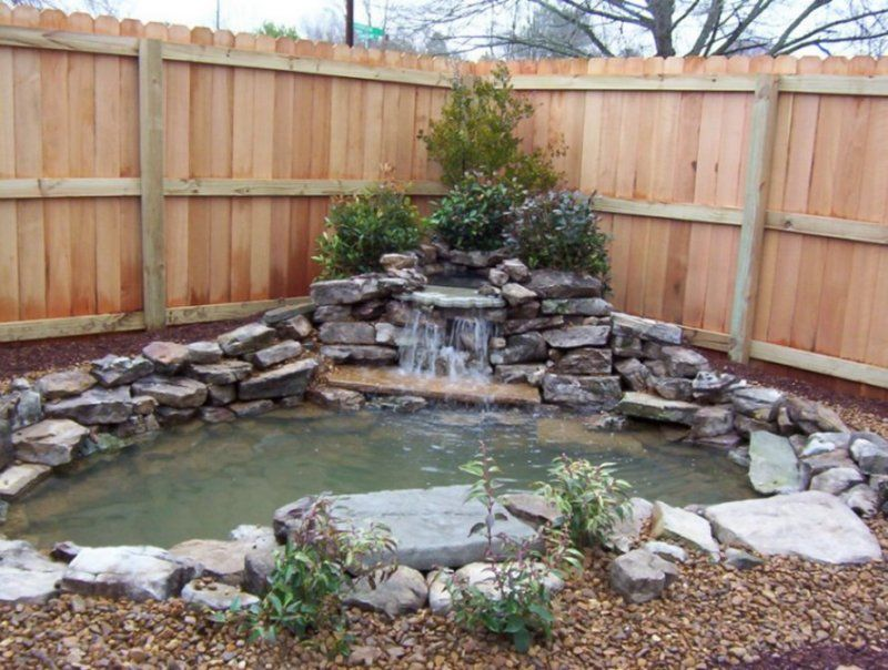 Really like this one think i could do it landscaping for Yard pond ideas