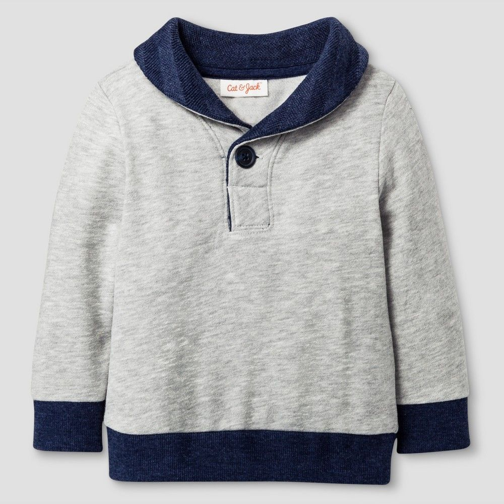 Baby Pullover Sweater Cat & Jack - Heather Gray 12M, Infant, Size: 12 M