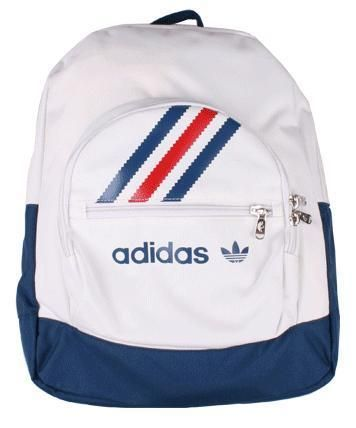 Vintage #Adidas Backpack {white + blue + red} in 2019