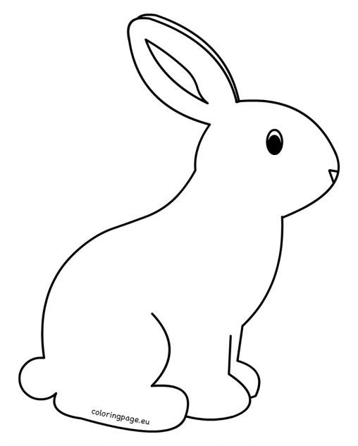 Printable Rabbit Coloring Pages For Kids Easter Coloring Pages