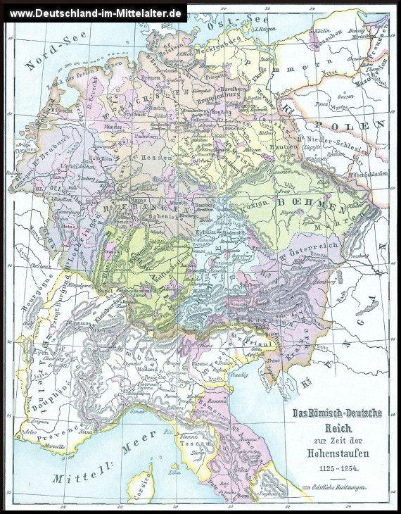 Landkarten Zur Stauferzeit 1125 Bis 1250 Das Heilige Romische