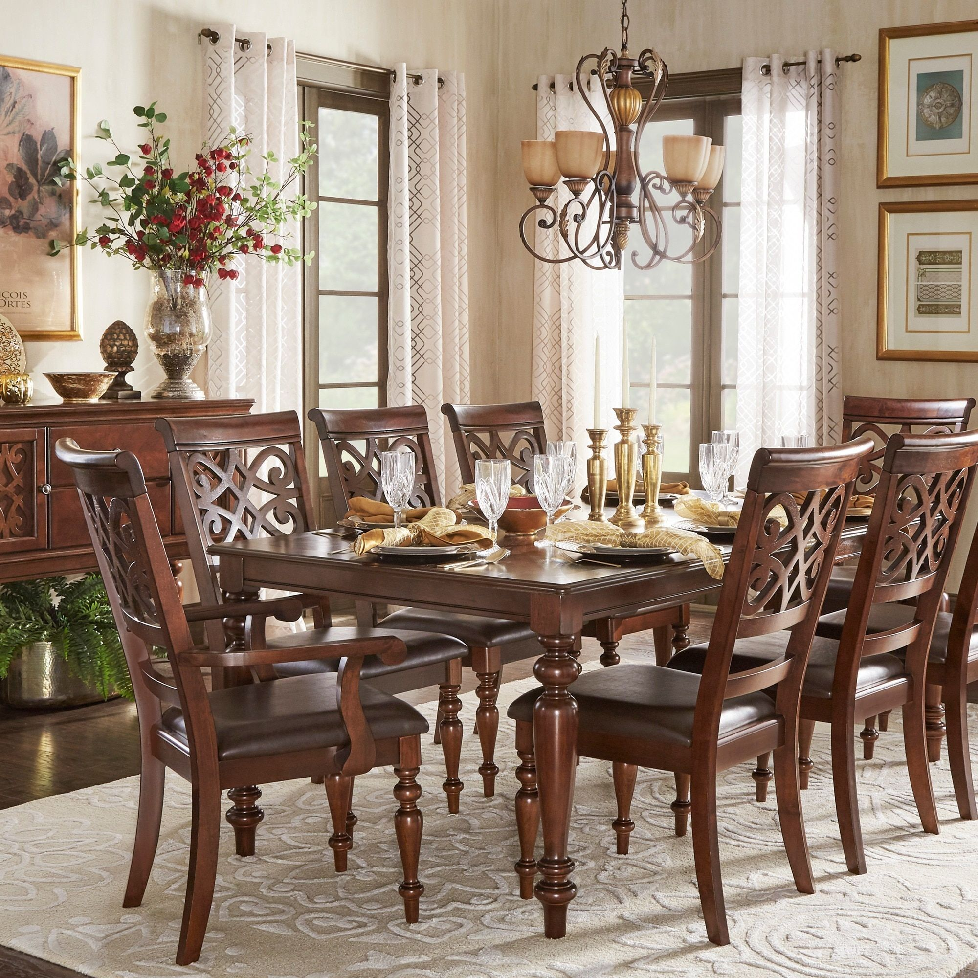 Apartment Size Dining Room Sets: Emma Catherine Cherry Extending Dining Set By INSPIRE Q