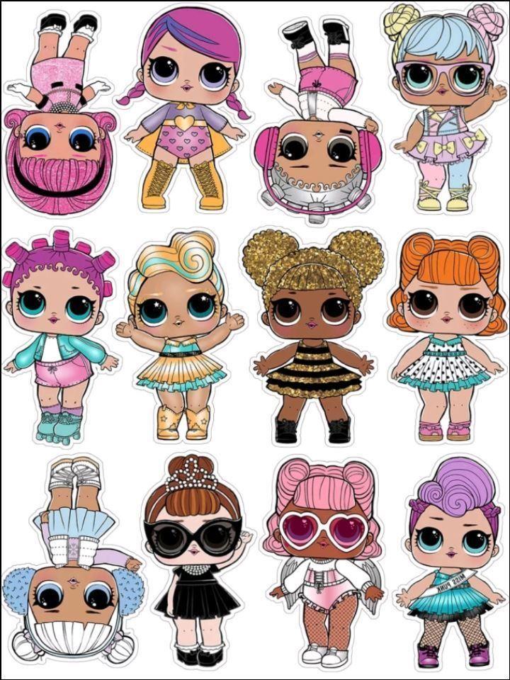 Photo of LOL Puppen. Alle Topper werden mit essbaren Tinten und Applikations- / Aufbewahr…
