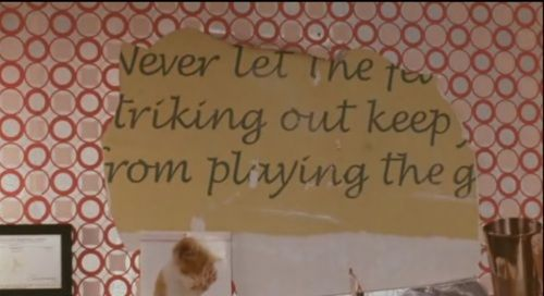 Image result for never let the fear of striking out cinderella story