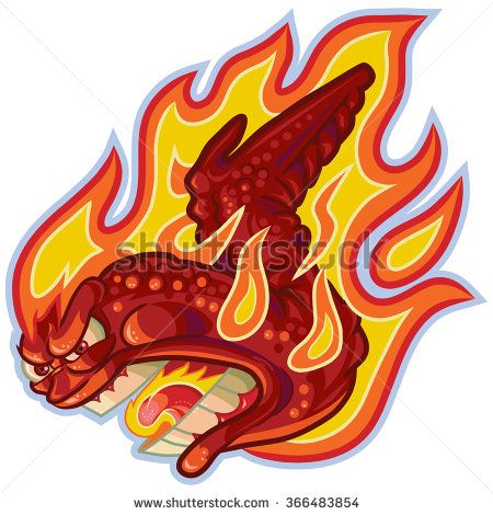 Vector Cartoon Clip Art Illustration Of An Angry Buffalo Or Hot Chicken Wing On Fire Or In Flames With A Scream Hot Chicken Wings Chicken Drawing Cartoon Wings