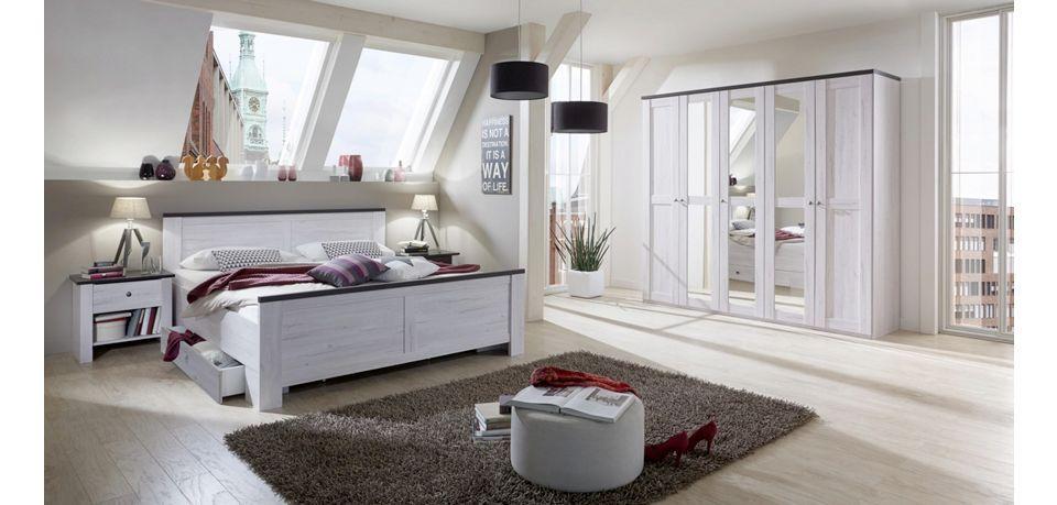 SCHLAFZIMMER - Braun Weiß, ROMANTIK   LANDHAUS (189 96 210cm - schlafzimmer braun wei