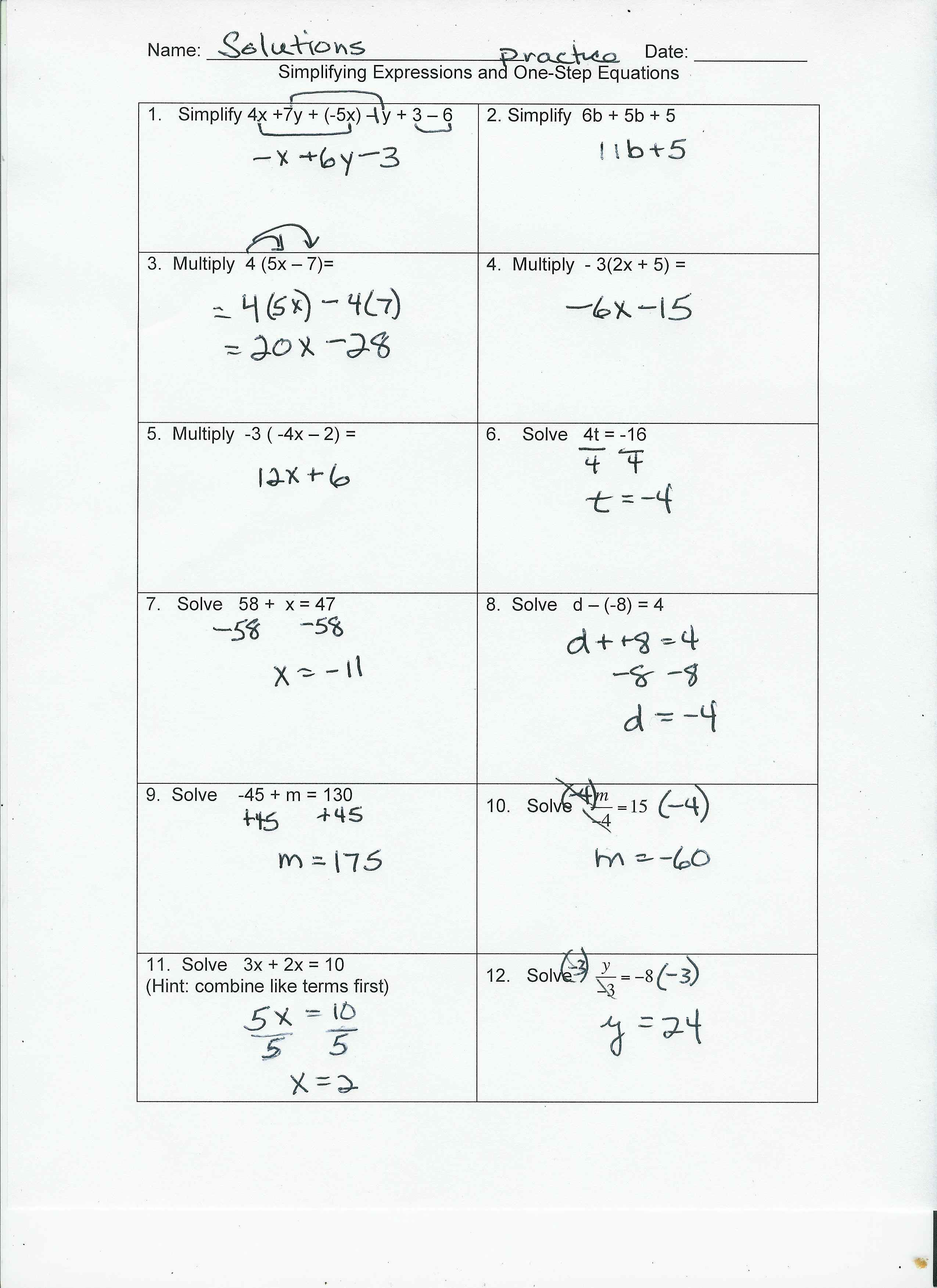 Best Site Cant Pin Because Blocked From Pinterest But The Link Is Ht One Step Equations Algebra Equations Worksheets Multi Step Equations Worksheets