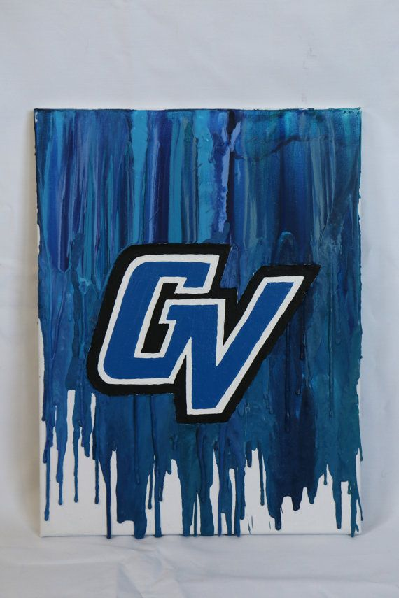 Grand Valley State University Crayon Art Diy Canvas Art Grand Valley State Grand Valley State University