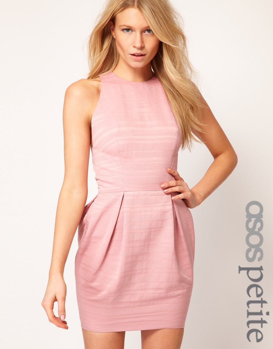 9e71f292aea4 ASOS PETITE Exclusive Tulip Dress With Textured Stripe... So cute. Too bad  I'm not 6-8 inches shorter