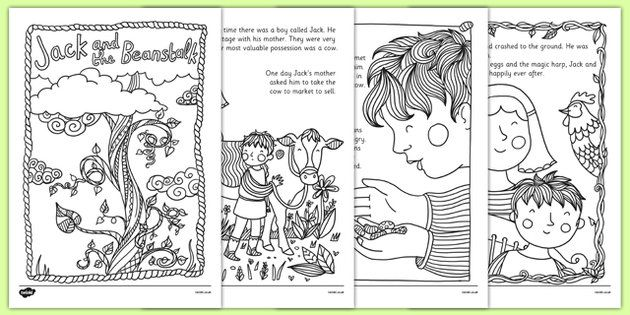 Jack and the Beanstalk Mindfulness Colouring Story - jack and the ...
