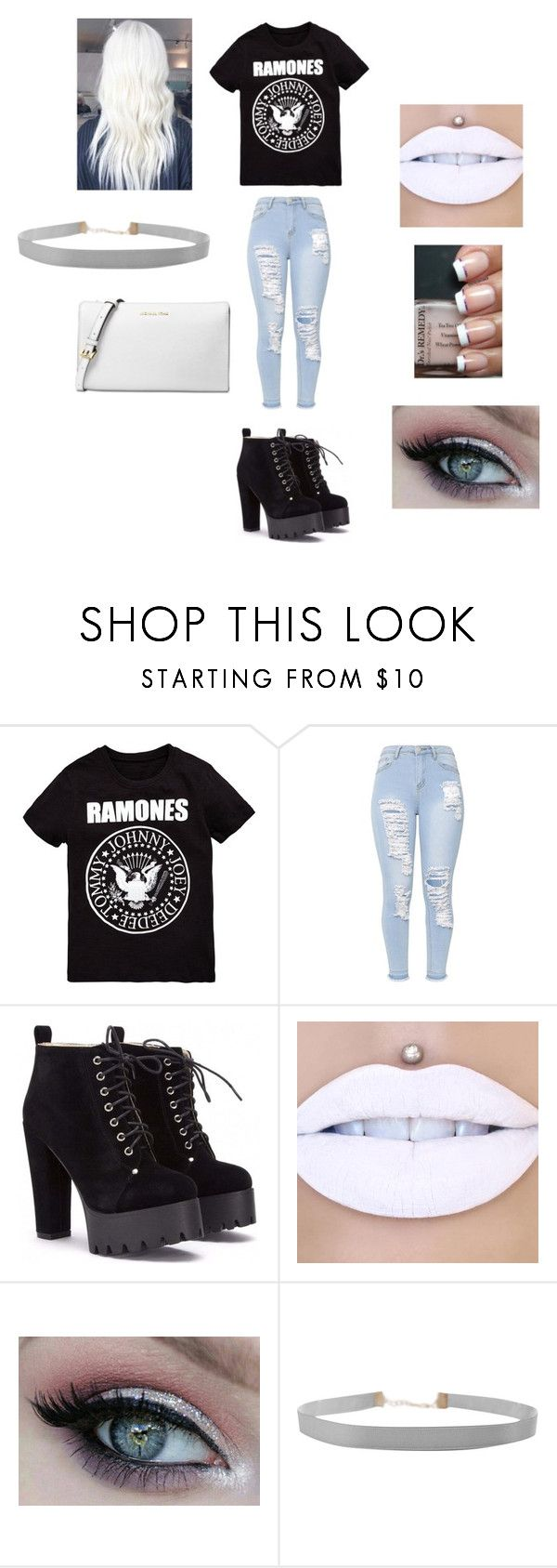 """For A Ramones Fan"" by mychristapie on Polyvore featuring Humble Chic and Michael Kors"