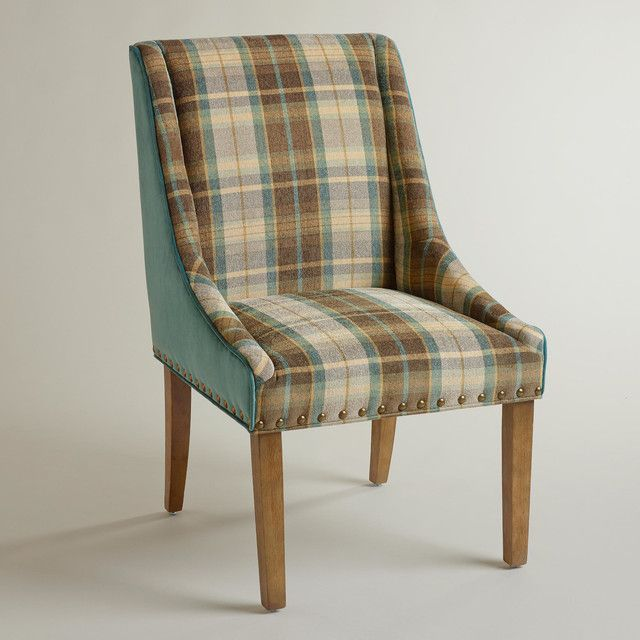 Captivating WorldMarket: Plaid And Teal Green Wes Dining Chair 2 Of These Would Be  Darling (and Manly!) At Each End Of The Dining Table.