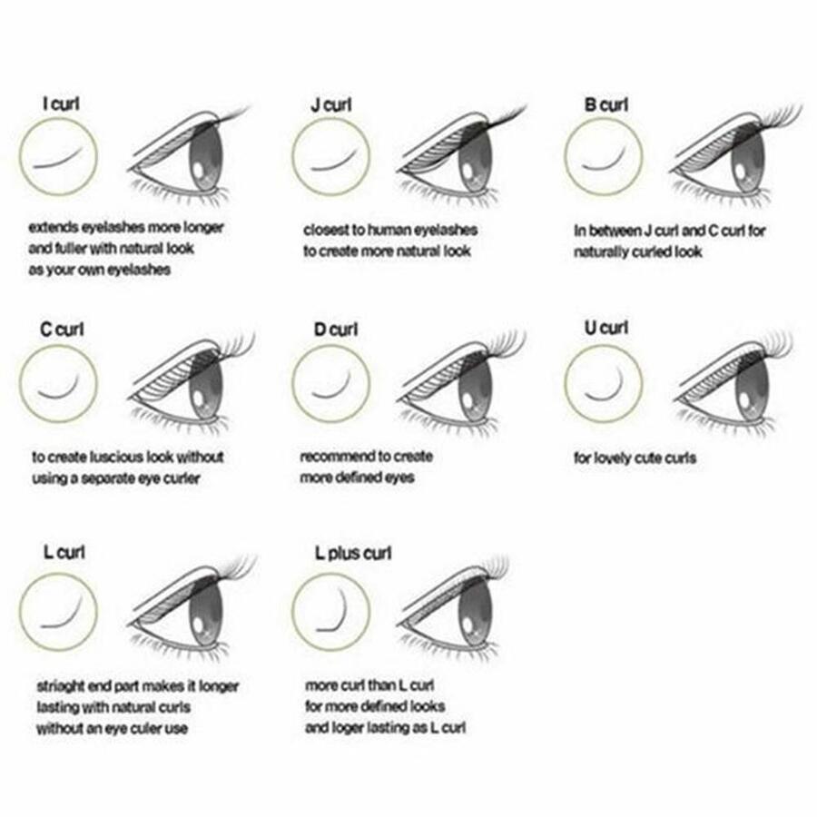 3 Colors Eyelash Extension Blink C Curl 8/10/12/14mm