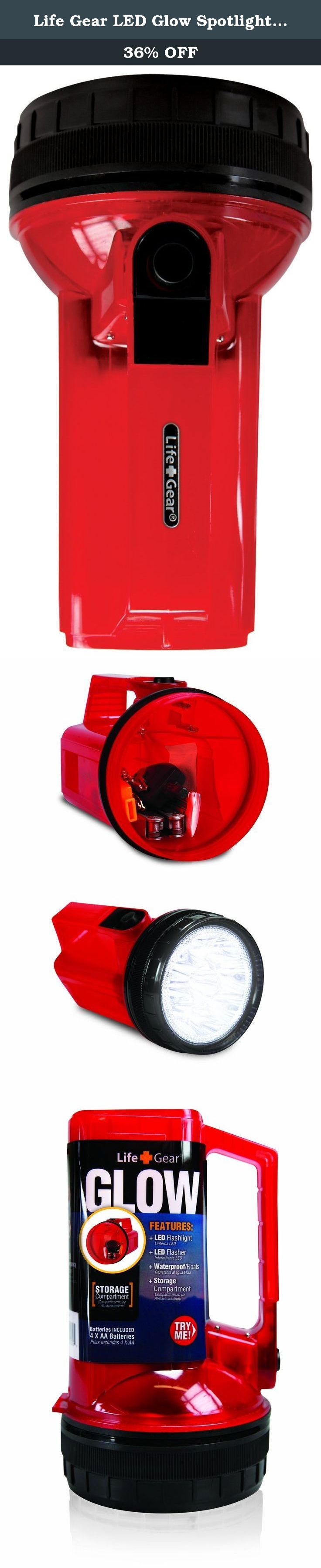 Life Gear LED Glow Spotlight with Storage Compartment, R