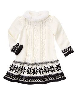 Gymboree Faux Fur Collar Fair Isle Sweater Dress $29.96 | Baby 12M ...