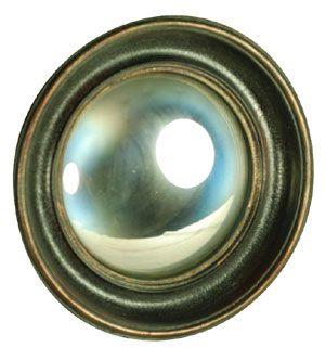 Miroir convexe contour noir antique Chehoma
