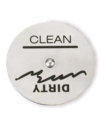 Ever wonder whether the dishwasher is clean or dirty? Wonder no more with this handy dandy magnet. Keep it on the dirty side while you are filling the dishwasher and simply spin it around once you start the washing cycle!! Bravo, no more wondering!