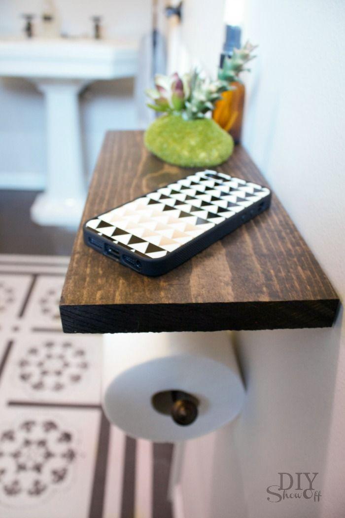 toilet paper holder shelf and bathroom accessories lowe s creators diy toilet paper holder. Black Bedroom Furniture Sets. Home Design Ideas