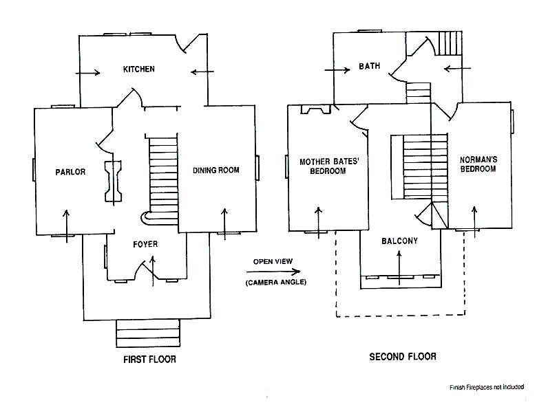 Bates Motel Psycho House Floor Plans two floor house plans – Psycho House Floor Plans